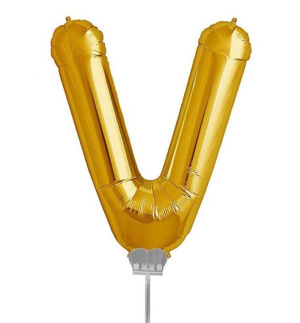 Μπαλονι 40 εκ Χρυσό Γράμμα V