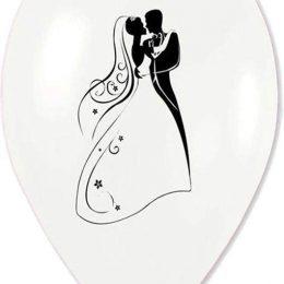 12″ Μπαλόνι τυπωμένο λευκό περλέ Νεόνυμφοι