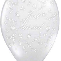 12″ Μπαλόνι τυπωμένο διάφανο Just Married