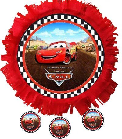 Πινιάτα xειροποίητη μεγάλη πάρτυ Cars κεραυνός McQueen