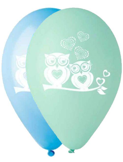 """12"""" Μπαλόνι Κουκουβάγια μπλε αποχρώσεις"""