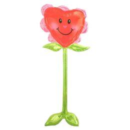 τεράστιο μπαλόνι airwalker καρδιά λουλούδι 147ek
