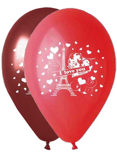 """12"""" Μπαλόνι τυπωμένο I Love you Παρίσι"""