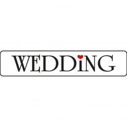 Πινακίδα αυτοκινήτου γάμου Wedding