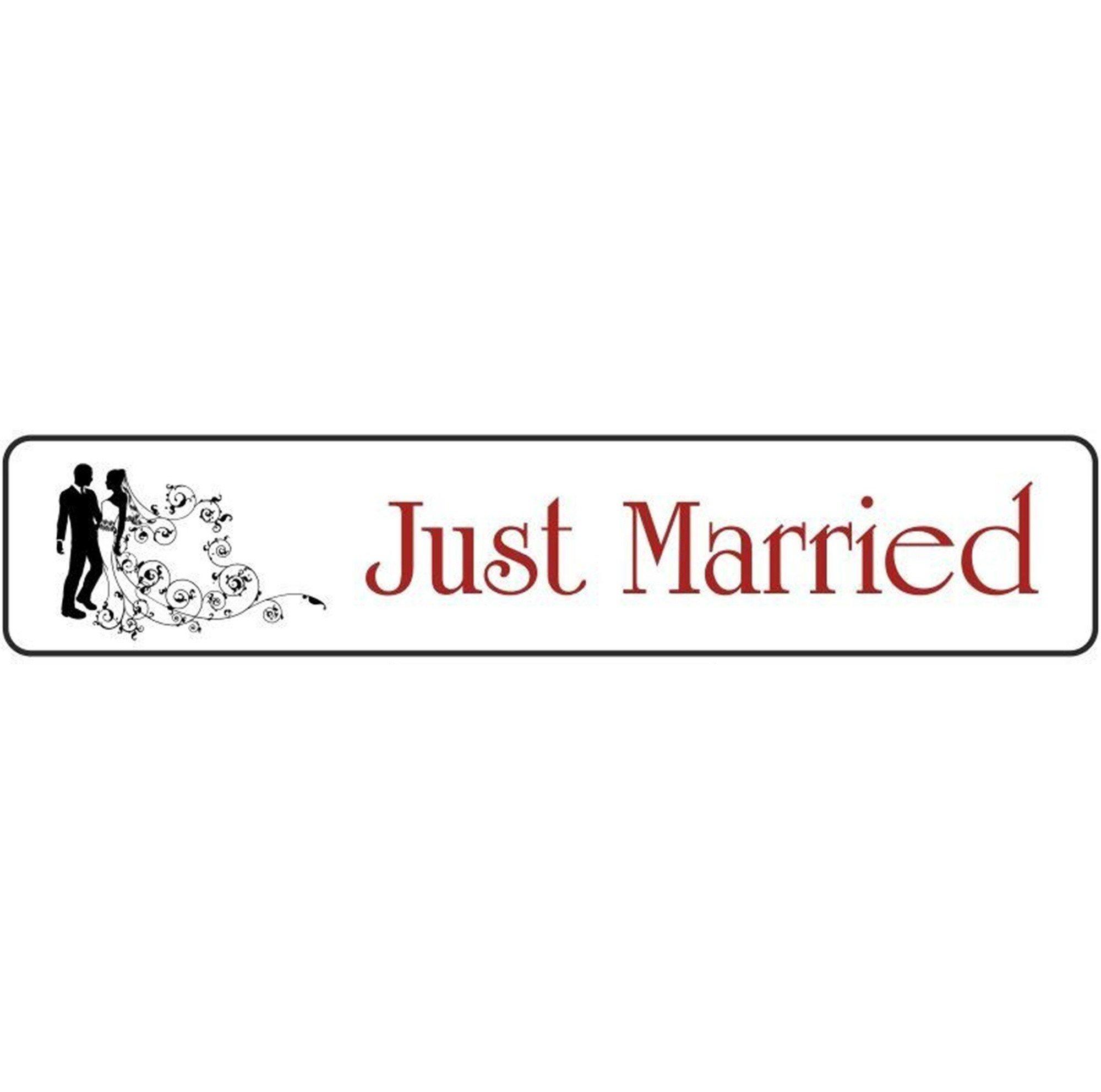 Πινακίδα αυτοκινήτου γάμου Just Married Ζευγάρι