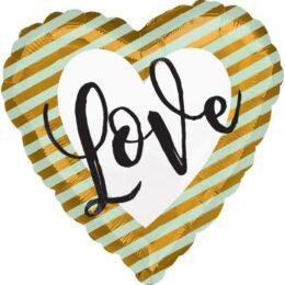 Μπαλόνι αγάπης Καρδιά ριγέ Love 45 εκ