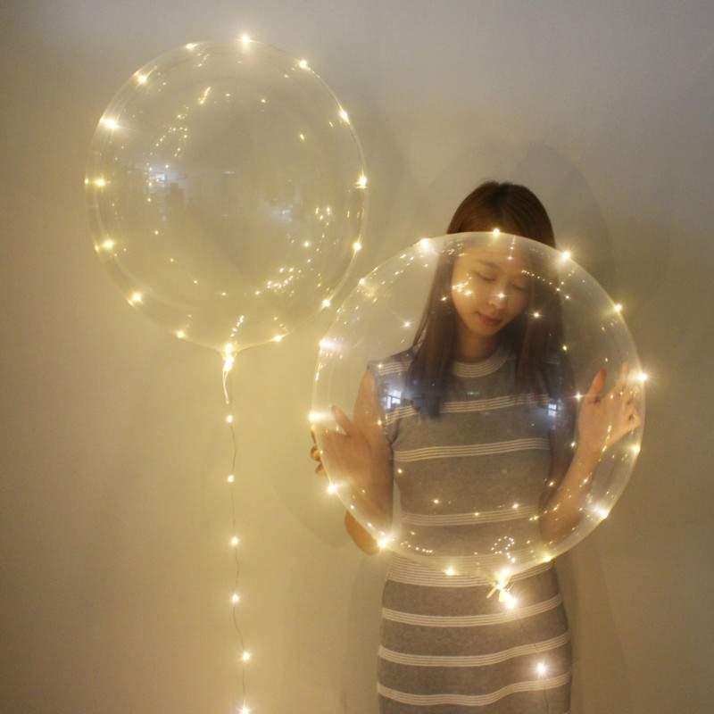 Διάφανο μπαλόνι φωτιζόμενο με λευκό LED