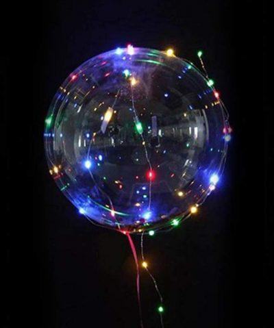 """18"""" Διάφανο μπαλόνι φωτιζόμενο πολύχρωμο LED"""