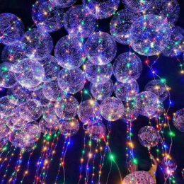 18″ Διάφανο μπαλόνι φωτιζόμενο πολύχρωμο LED