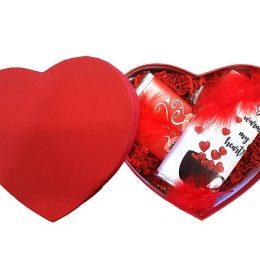 Μεγάλο κουτάκι καρδιά με δύο σοκολάτες