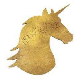 Ξύλινη χρυσή φιγούρα Μονόκερος