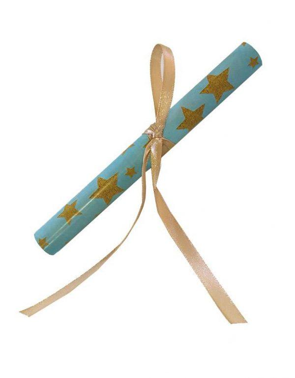 Προσκλητήριο Baby Shower ρολάκι γαλάζιο (10 τεμ)