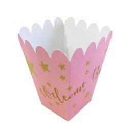 Κουτάκι για Ποπκορν Ροζ Baby Shower