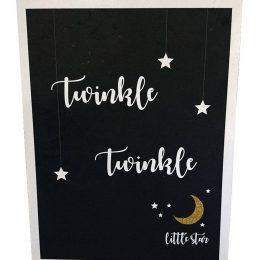 """Ξύλινο Διακοσμητικό Καδράκι """"Twinkle Little Star"""""""