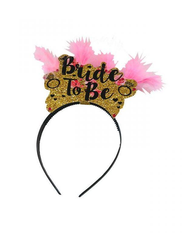 """Χειροποίητη Στέκα μαλλιών """"Bride to be"""""""