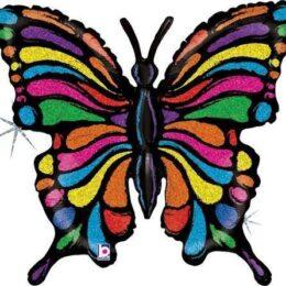 Μπαλόνι χρωματιστή Πεταλούδα 84 εκ