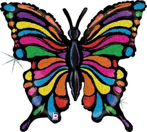 Μπαλόνι χρωματιστή Πεταλούδα που ιριδίζει