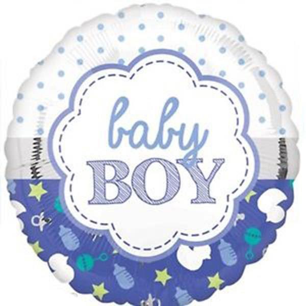 Μπαλόνι γέννησης Baby Boy μπλε 45 εκ