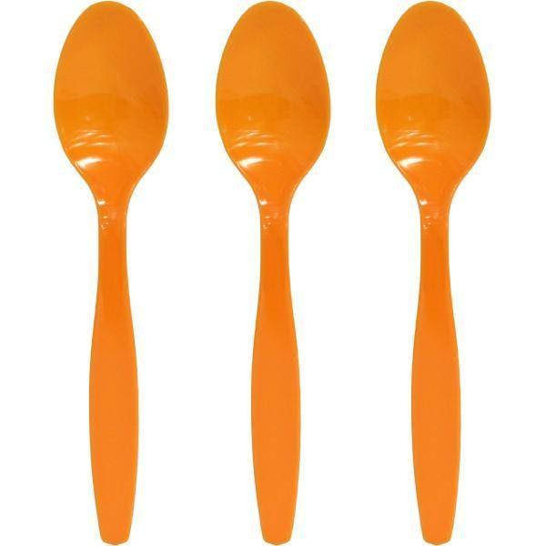 Κουτάλια πάρτυ πλαστικά πορτοκαλί (16 τεμ)