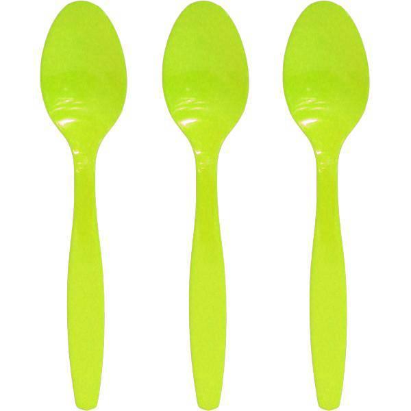 Κουτάλια πλαστικά λαχανί ανοιχτό (16 τεμ)
