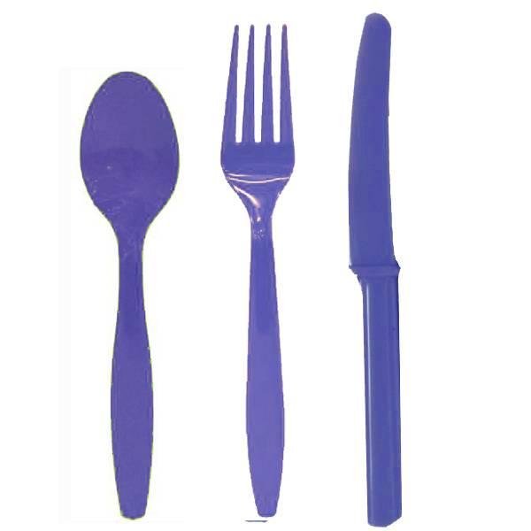 Σετ μαχαιροπίρουνο μπλε (24 τεμ)