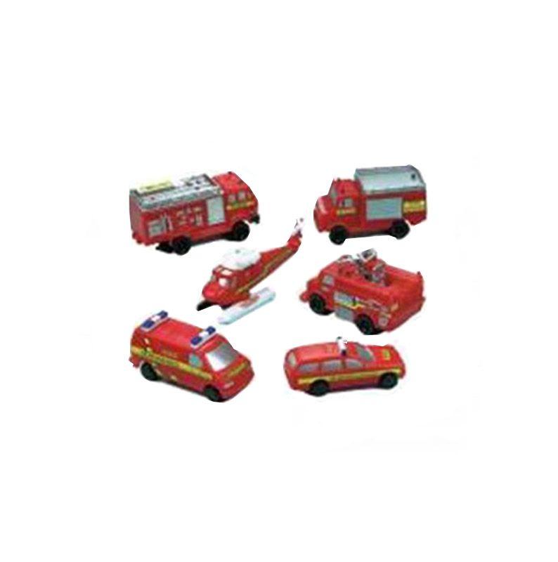 Παιχνιδάκια Πυροσβεστικά οχήματα (6 τεμ)