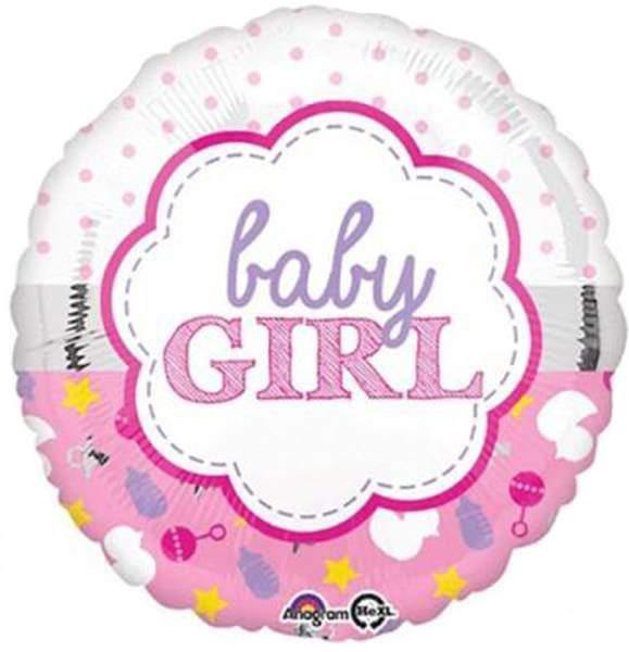 Μπαλόνι γέννησης Baby Girl φούξια 45 εκ