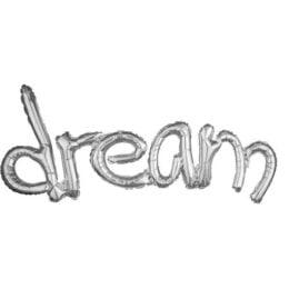 Μπαλόνι Ασημί Dream εννωμένη φράση
