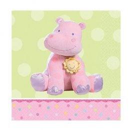 Χαρτοπετσέτες με ροζ Ιπποπόταμο (16 τεμ)