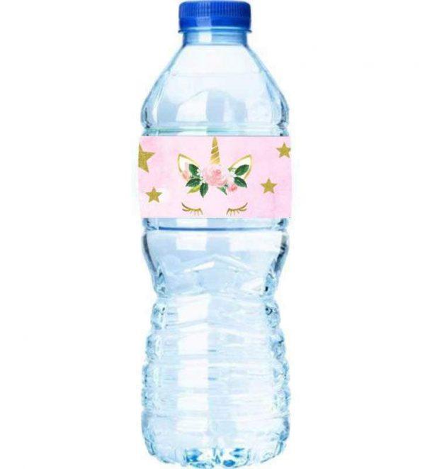 Χάρτινες ετικέτες νερού Μονόκερος (8 τεμ)