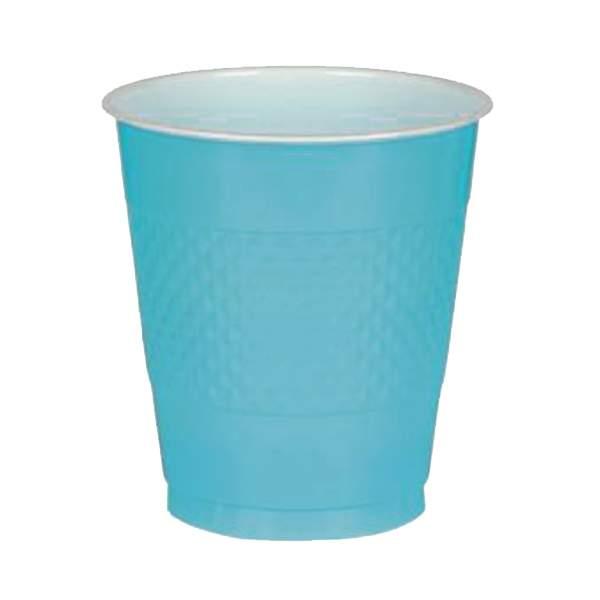 Ποτήρια πλαστικά γαλάζιο Καραϊβικής (10 τεμ)