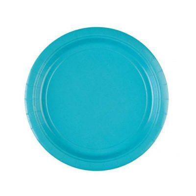 Πιάτα πάρτυ μικρά γαλάζιο Καραϊβικής (8 τεμ)