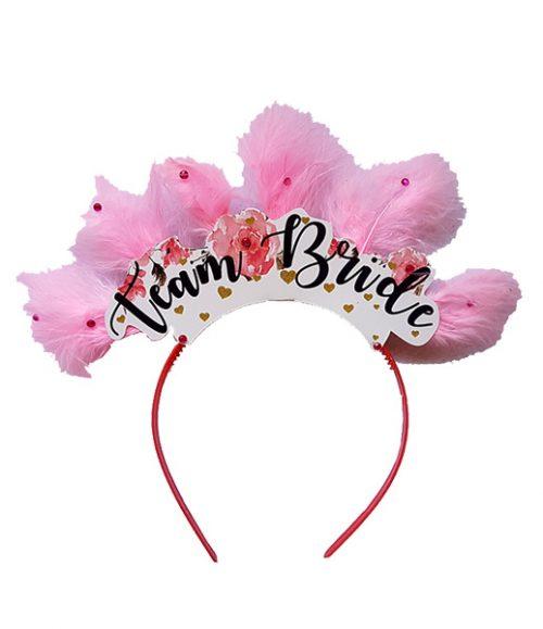 """Χειροποίητη Στέκα μαλλιών """"Τeam Bride"""""""