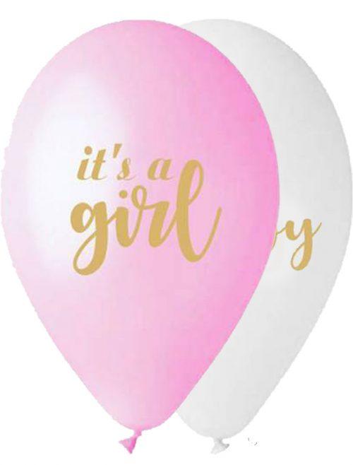 """12"""" Μπαλόνι Its a Girl & Oh Baby"""