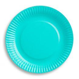 Πιάτα γλυκού Γαλάζιο Καραϊβικής (6 τεμ)