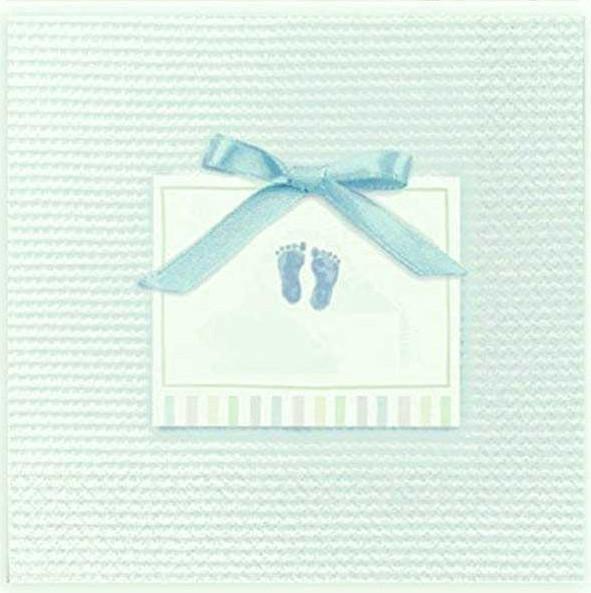 Γαλάζιες μικρές χαρτοπετσέτες πατουσάκια χαρτοπετσέτες για μπουφέ