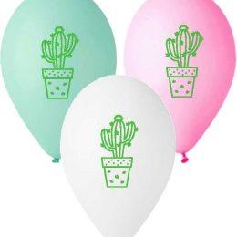 12″ Μπαλόνι τυπωμένο πράσινος κάκτος