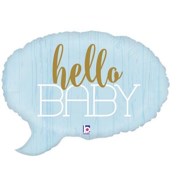 Μπαλόνι γέννησης Hello baby γαλάζιο 61 εκ