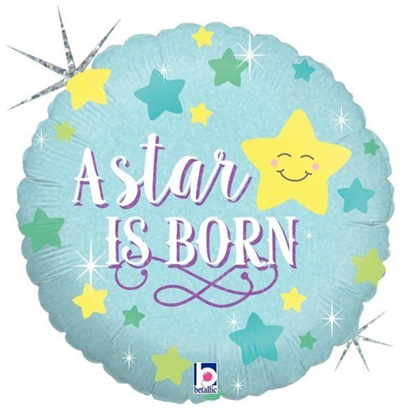 Μπαλόνι γέννησης A star is born γαλάζιο 45 εκ