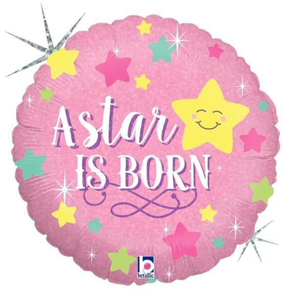 Μπαλόνι γέννησης A star is born ροζ 45 εκ
