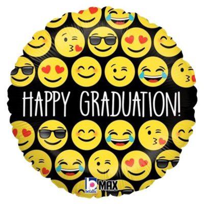 Μπαλόνι αποφοίτησης 'Happy Graduation' φάτσες 45 εκ