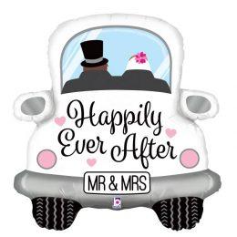 Μπαλόνι αμάξι γάμου 'Happily ever after' 79 εκ