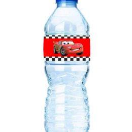 Χάρτινες διακοσμητικές ετικέτες νερού cars της disney (8 τεμ)