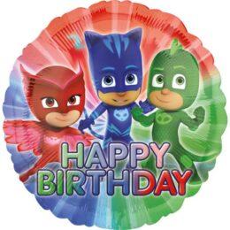 Μπαλόνι γενεθλίων PJ Masks Happy Birthday