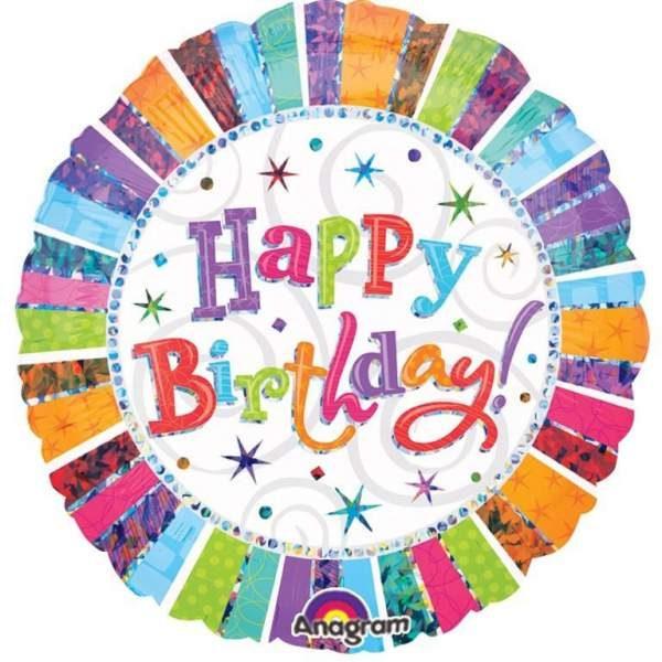 Μπαλόνι γενεθλίων Happy Birthday διάφορα χρώματα