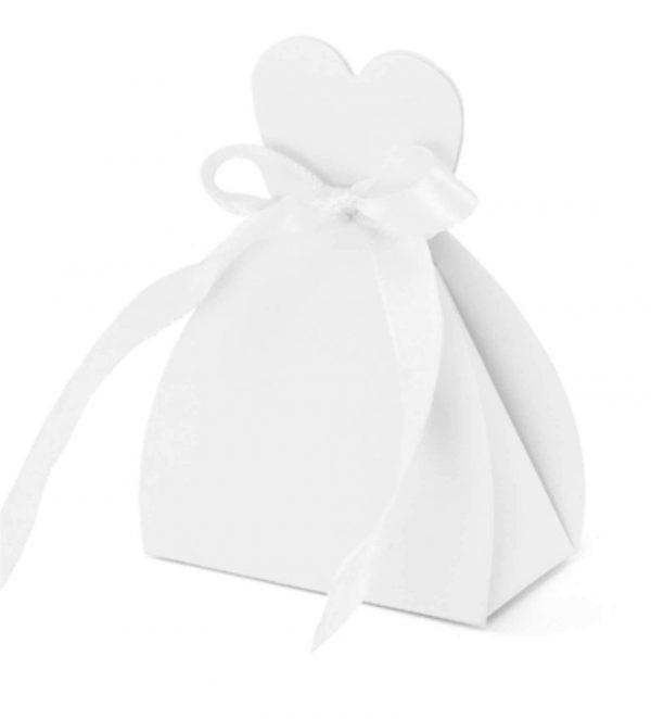 Λευκά χάρτινα κουτάκια Νυφικό (10 τεμ)