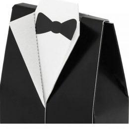 Μαύρα χάρτινα κουτάκια Κουστούμι (10 τεμ)