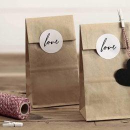Σακούλες κράφτ για κέρασμα Love (6)
