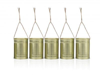 Μεταλλικά κουτιά κονσέρβας χρυσό (5 τεμ)