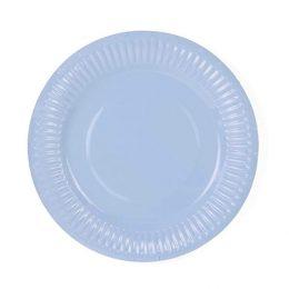 Πιάτα πάρτυ μικρά παστέλ μπλε (6 τεμ)